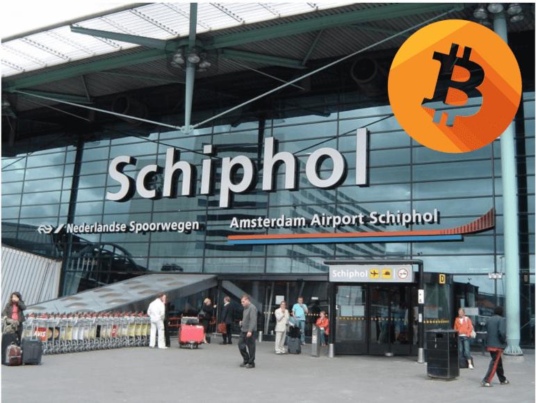 El primer cajero automático de criptomonedas llega al aeropuerto de Amsterdam