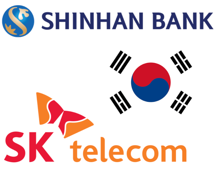Asociación blockchain en Corea del Sur: Korea Telecom Corporation y Shinhan Bank
