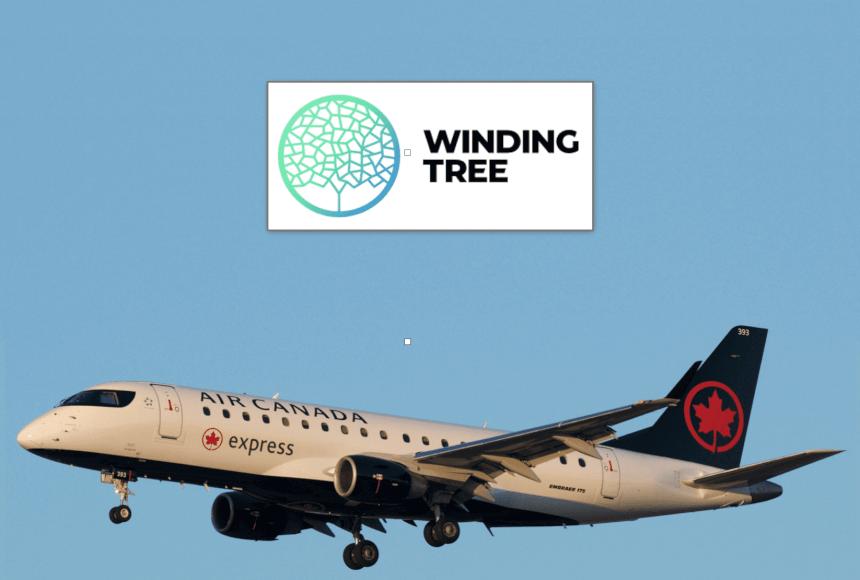 Air Canada se asocia con Winding Tree en una plataforma de distribución de viajes basada en Blockchain