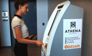 ATM de Bitcoin athena