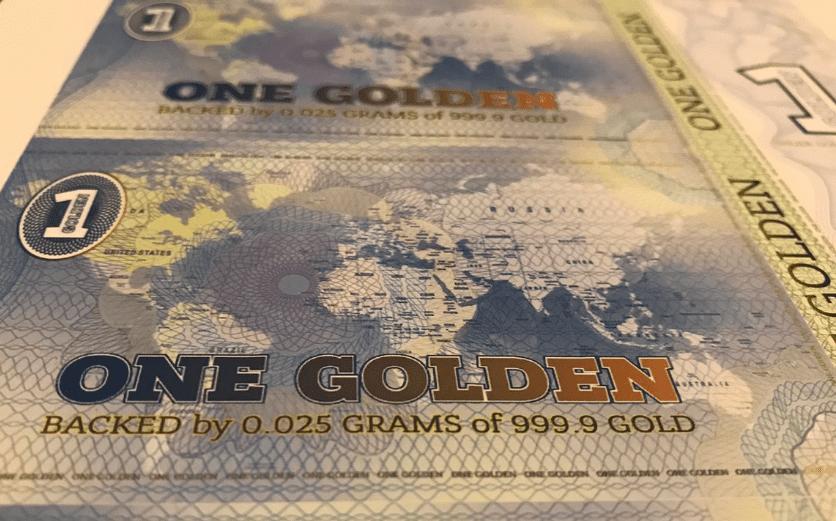 Golden: una moneda blockchain impresa y respaldada por oro