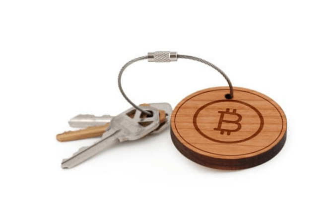 llavero bitcoin