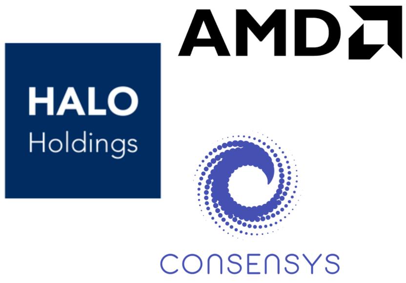 Nueva asociación para desarrollar computación en la nube: ConsenSys, Halo Holdings y AMD