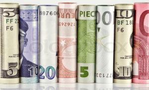 billetes en rollos