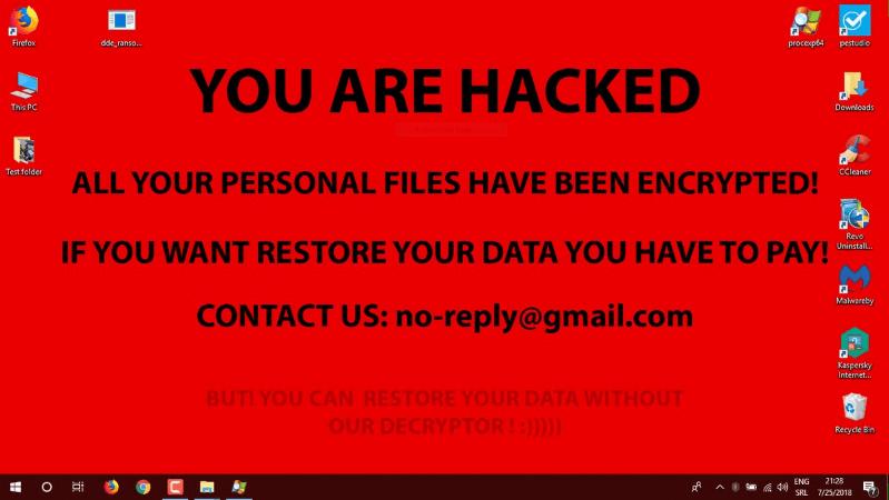 ransomware mensaje