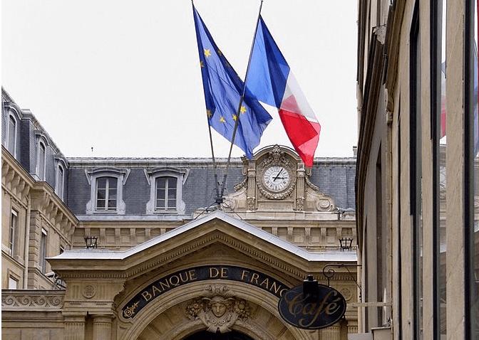 Imagen de la fachada del Banco Central de Francia