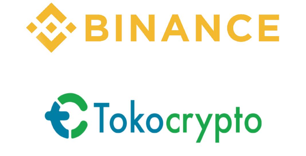 Imagen con el logo de Binance y Tokocrypto