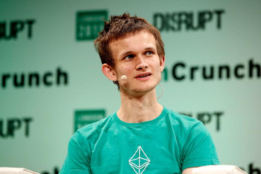 Imagen donde se ve al fundador de Ethereum Vitalik Buterin