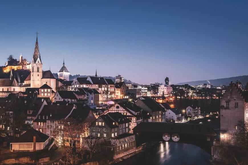 Imagen de una ciudad Suiza