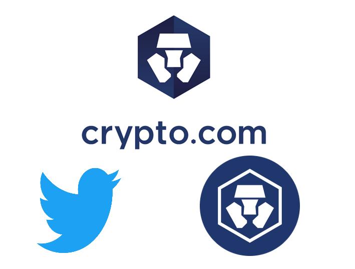 Imagen del logo de Crypto.com y Twitter