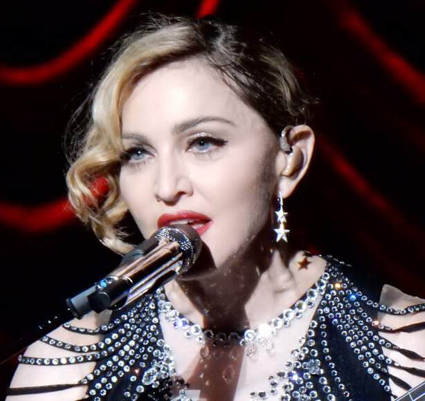 imagen donde se reconoce a la cantante Madonna