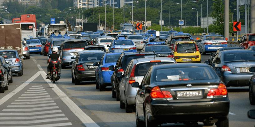 Ryde trafico Singapur