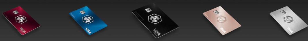 Imagen de las tarjetas de Crypto.com