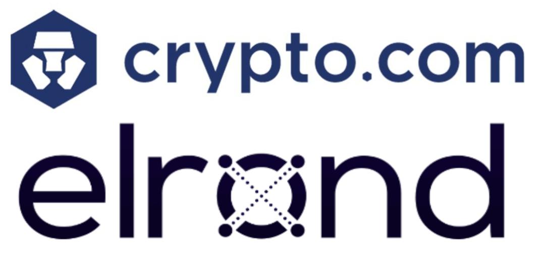 Imagen de los logos de Crypto.com y Elrond