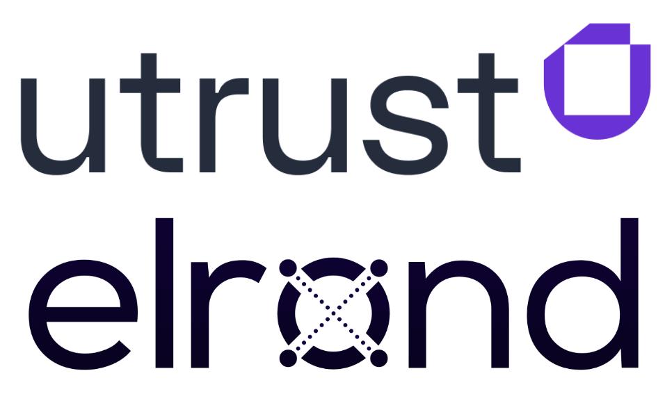 Logo de Utrust y Elrond