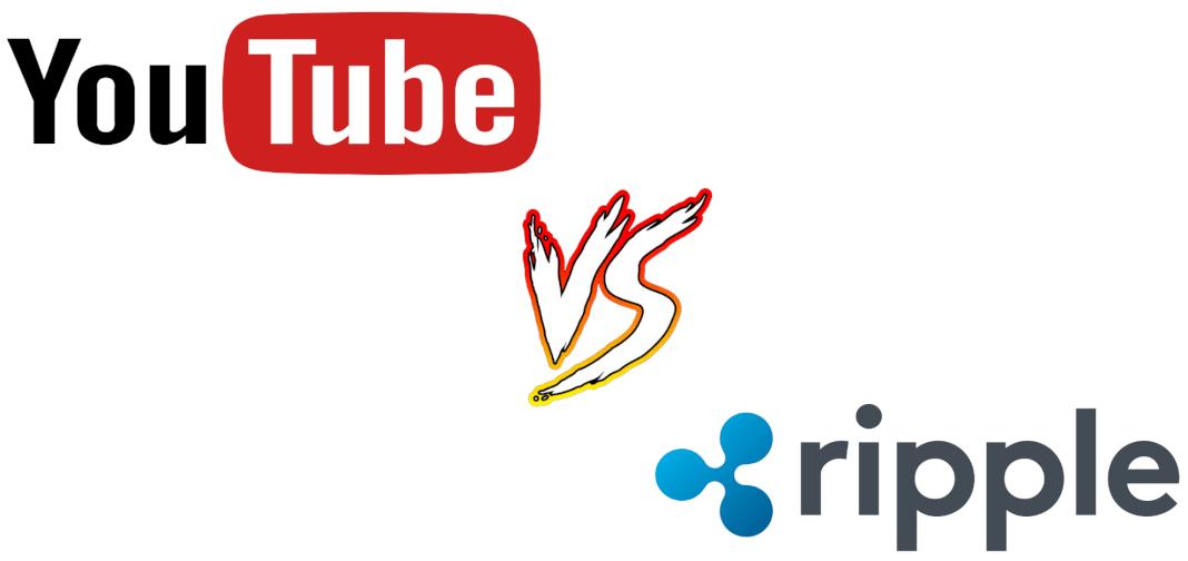 Imagen de los logos enfrentados de Ripple y Youtube