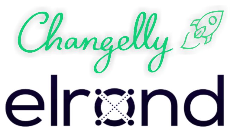 logos de elrond y changelly