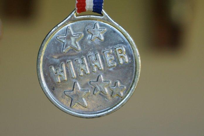 Medalla al ganador de un evento
