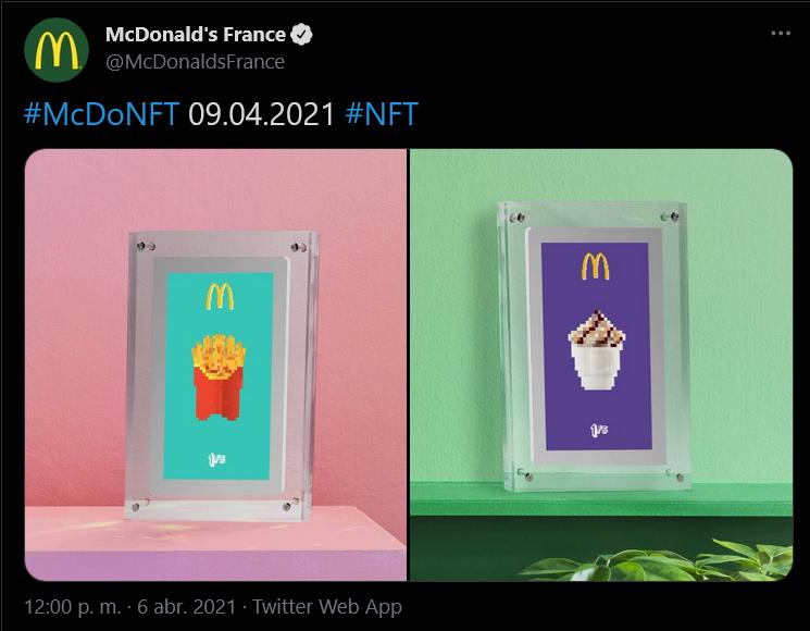 NFT de McDonald´s Francia